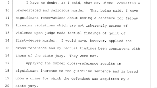 Excerpts From The Sentencing Hearing August 16 2007
